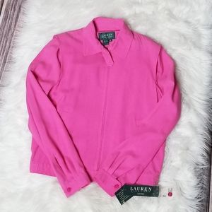 Lauren Ralph Lauren Pink Silk 2 Pc